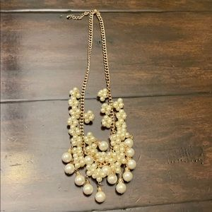 Franchescas Pearl & Gold Chunky Necklace R24